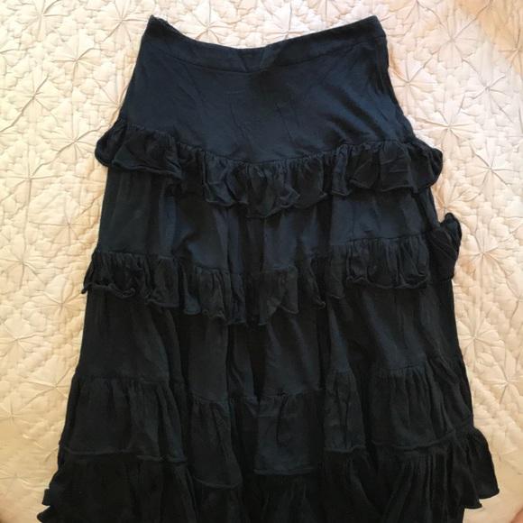 10753db4e4866 Black Prada Ruffled Skirt
